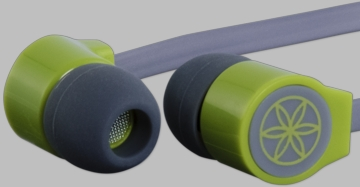 Gaiam Green Flat Wire Ear Buds