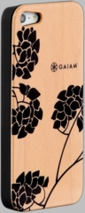 Gaiam iPhone 5 Wood Case - Hydrangea