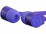 Gaiam Purple Flat Wire Ear Buds