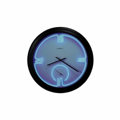Gallery Neon Wall Clock with Black Frame - Howard Miller