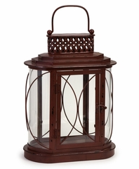 Galveston Double Candle Lantern - IMAX - 56275