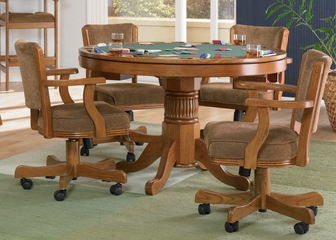 Game Table and Chair Set in Oak - Coaster