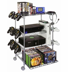 Gamekeeper Wire 4 Tier Tower For Gaming Gear in Silver - Atlantic - 45506019