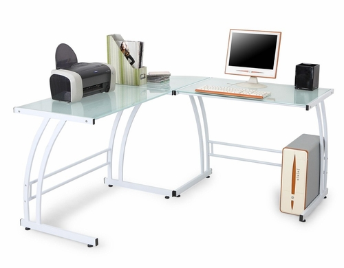 Gamma L-Shaped Workstation - LumiSource - OFD-TM-BITDBL W
