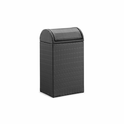 Gandia Outdoor Rubbish Bin in Espresso - Zuo
