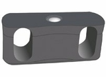 Ganging Brackets for 306 - Black - OFM - 306-GB
