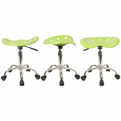 Garage Stool - Stool in Apple Green - LF-214A-APPLEGREEN-GG