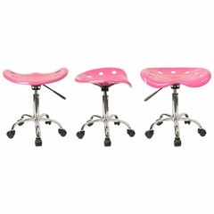 Garage Stool - Stool in Pink - LF-214A-PINK-GG
