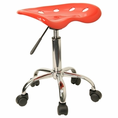 Garage Stool - Stool in Red - LF-214A-RED-GG