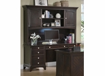 Garson Credenza with Hutch in Cappuccino - 801013D