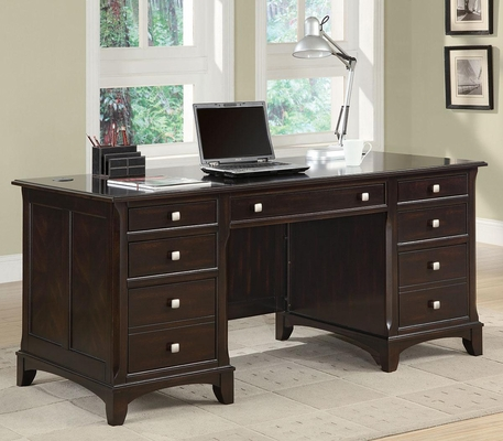 Garson Double Pedestal Desk with 7 Drawers - 801012