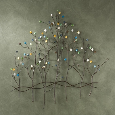 Gemstone Forest Wall Sculpture - Holly and Martin