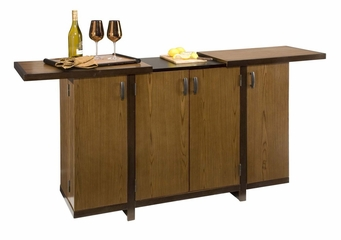 Geo Bar Cabinet in Walnut - Home Styles - 5539-99