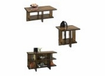 Geo Coffee Table Set in Walnut - Home Styles