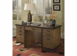 Geo Pedestal Desk in Walnut - Home Styles - 5539-18