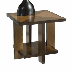 Geo Side Table in Walnut - Home Styles - 5539-20
