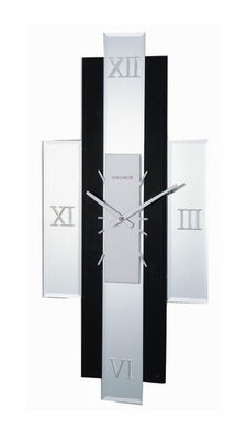 George Nelson Diamond Mirror Clock in Clear / Black - 1868-I-AUSTINE