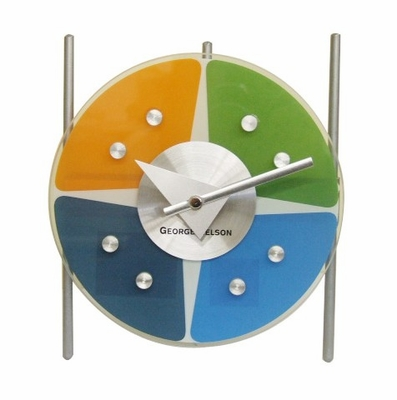 George Nelson Metal Tripod Table Clock - 1439T-7