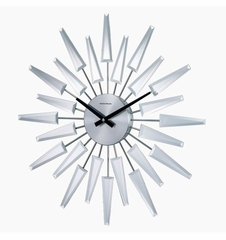 George Nelson Mirrored Starburst Wall Clock - RM2201MIRROR-36