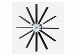 George Nelson Square Spindle Clock - 1120-DARK