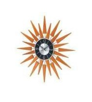 George Nelson Wooden Sunburst Wall Clock - RM-2201
