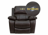 Georgia Southwestern State University Hurricanes Leather Rocker Recliner - MEN-DA3439-91-BRN-41036-EMB-GG