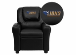 Georgian Court University Lions Black Vinyl Kids Recliner - DG-ULT-KID-BK-41035-EMB-GG