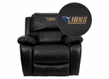 Georgian Court University Lions Leather Rocker Recliner - MEN-DA3439-91-BK-41035-EMB-GG