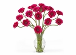 Gerber Daisy Liquid Illusion Silk Flower Arrangement in Beauty - Nearly Natural - 1086-BU