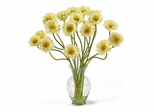 Gerber Daisy Liquid Illusion Silk Flower Arrangement in Cream - Nearly Natural - 1086-CR