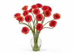 Gerber Daisy Liquid Illusion Silk Flower Arrangement in Orange - Nearly Natural - 1086-OR
