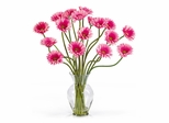 Gerber Daisy Liquid Illusion Silk Flower Arrangement in Pink - Nearly Natural - 1086-PK
