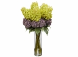 Giant Mixed Hydrangea Silk Flower Arrangement - Nearly Natural - 1222