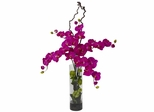 Giant Phalaenopsis and Hydrangea Silk Flower Arrangement - Nearly Natural - 1288-OR