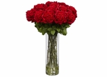 Giant Rose Silk Flower Arrangement - Nearly Natural - 1214