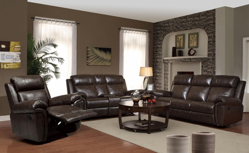 Gideon 3PC Motion Sofa Set in Brown - 601041