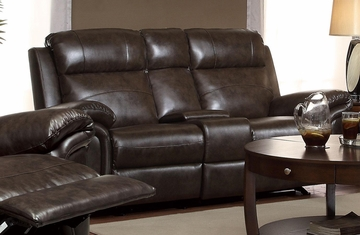 Gideon Transitional Styled Reclining Motion Loveseat - 601042