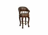 Giovanni Leather Stool - American Hertiage - AH-126836