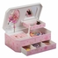Girl's Glitter-Daisy Musical Ballerina Jewelry Box - Rose - Jewelry Boxes by Mele - 00801S11M
