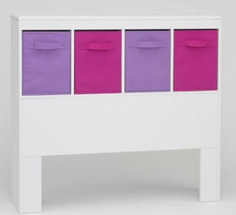 Girl's Headboard in White - 4D Concepts - 12401