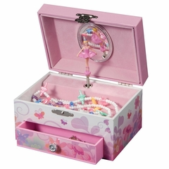 Girl's Musical Ballerina Fairy and Flowers Jewelry Box - Ashley - Jewelry Boxes by Mele - 00800S10M