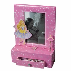 Girl's Musical Ballerina Photo Frame Jewelry Box - Paige - Jewelry Boxes by Mele - 00803S10M