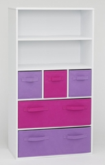Girl's Storage Bookcase in White - 4D Concepts - 12455