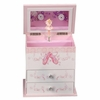 Girl's Wooden Musical Ballerina Jewelry Box with Fashion Paper Overlay - Angel - Jewelry Boxes by Mele - 0071111