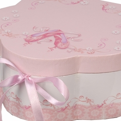 Girl's Wooden Musical Ballerina Jewelry Box with Fashion Paper Overlay - Ella - Jewelry Boxes by Mele - 0071011
