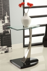 Glass Chairside Table - Powell Furniture - 317-685