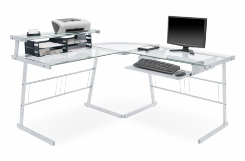 Glass Corner Computer Desk - HCLG6060