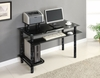 Glass Desk with Black Marble Finish - Innovex - DP1032GBM