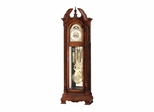 Glenmour Grandfather Clock in Windsor Cherry - Howard Miller