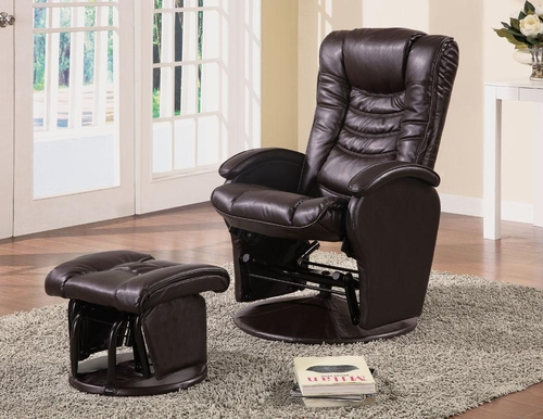 Glider Recliner Chair with Matching Ottoman - 600165